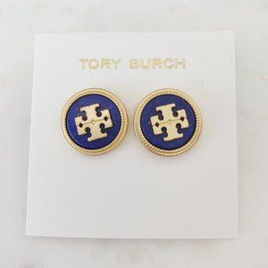 Tory Burch Navy Blue Earrings